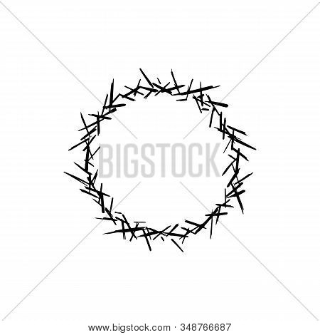 Crown Of Thorns Sketch Logo. Graphic Design For Card, Poster, Postcard, Sticker, Tee Shirt. Easter R