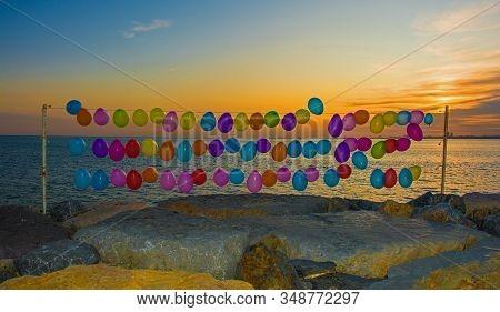 Balloons On Moda Coastal Pathway
