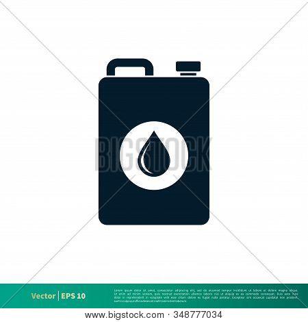 Jerrycan Icon Vector Logo Template Illustration Design Eps 10.