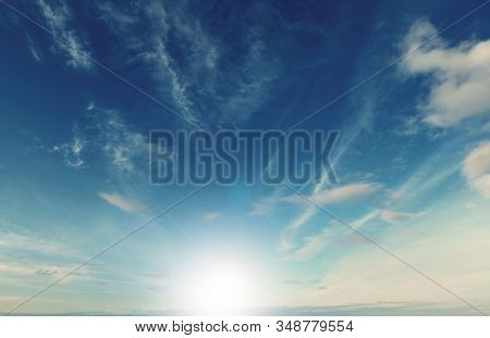 sun glare and blue sky