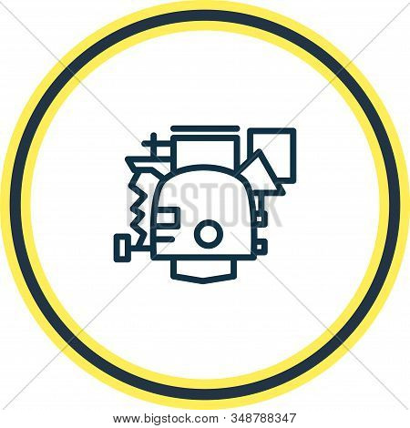 Illustration Of Carburetor Icon Line. Beautiful Details Element Also Can Be Used As Power Icon Eleme