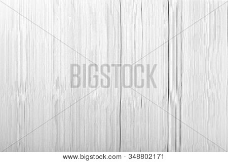 Stack Of Office Paper, On A White Background. Concept, Minimalism