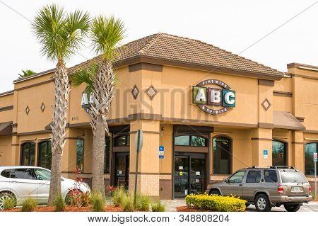 Vero Beach, Florida; Usa; Jan. 27, 2020. A Popular Liquor Store Founded In 1936 As A Bar In Orlando,
