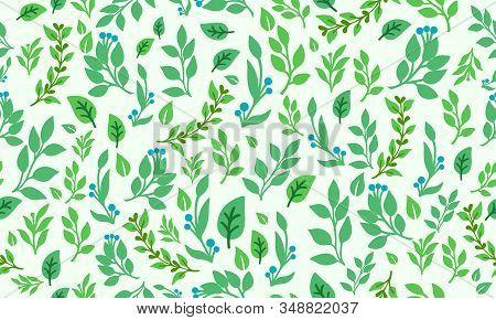 Elegant Leaf And Floral For Spring, With Leaf And Flower Pattern Background Decor.