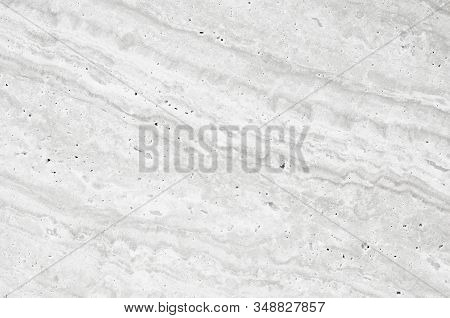 Light Grey Or White Marble Stone Background. Grey Marble,quartz Texture Backdrop. White Wall And Pan