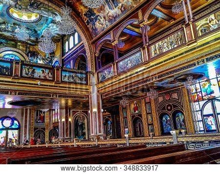 Egypt, Sharm El Sheikh - January 18, 2020: Interior Of The Coptic Orthodox Church In Sharm El Sheikh