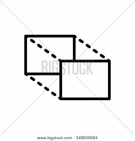 Black Line Icon For Proportions Magnitude Volume Quantity Size Quantum Proportions