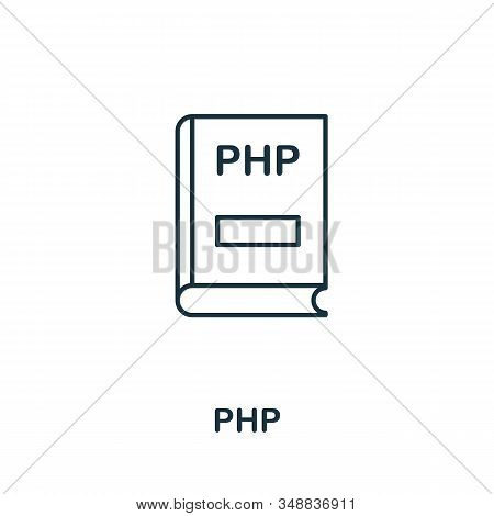 Php Line Icon. Thin Design Style From Programmer Icon Collection. Simple Php Icon For Infographics A
