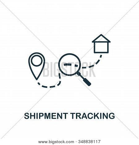 Shipment Tracking Line Icon. Thin Design Style From Logistics Delivery Icon Collection. Simple Shipm