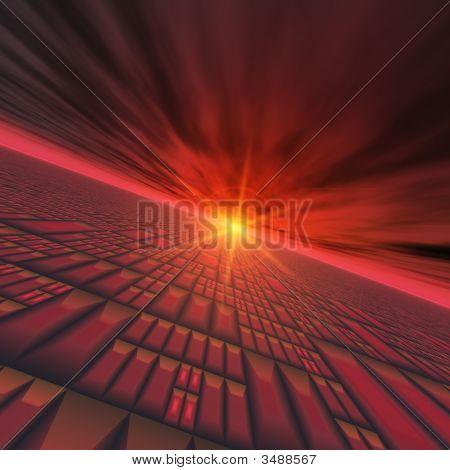 Abstract Technology Horizon