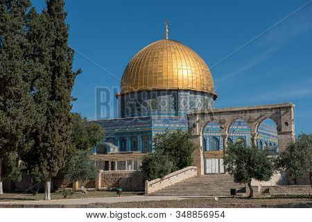 Dome Of The Rock On The Temple Mount In The Old City Of Jerusalem, Israel, Palestinian Territories