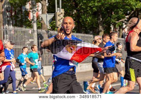 St. Petersburg, Russia - June 30, 2019: 30th International Marathon - White Nights.  Egyptian Marath