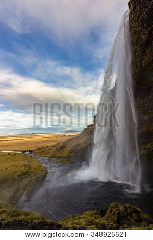 Seljalandsfoss Waterfall In The South Of Iceland