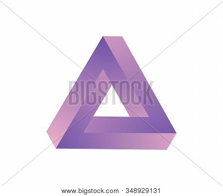 Optical Illusion. Abstract Colorful - Infinite Penrose Triangle. Vector Illustration. Triangle Logo,