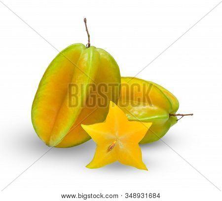 Star Apple Fruit (also Called As Carambola, Starfruit, Averrhoa Apple Carambola, Bilimbi, Arkin In F