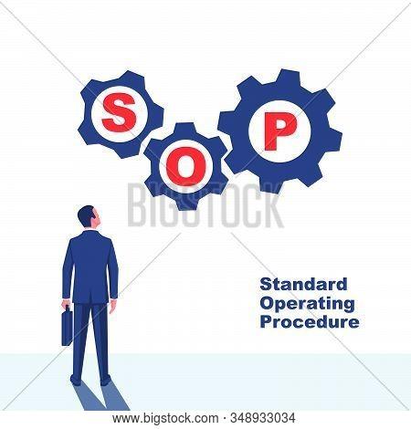 Sop Concept. Standard Operating Procedure. Step-by-step Work Instruction. Organization Of Process. V