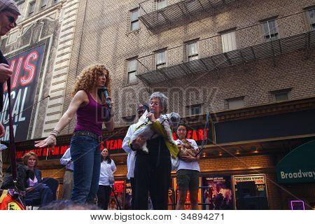 Bernadette Peters & Rita Moreno with Friend