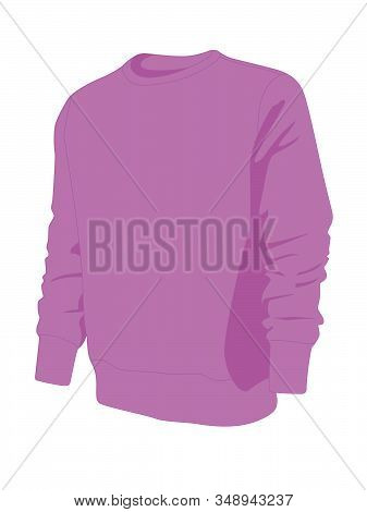 Pullover Purple Realistic Vector Illustration Isolated No Background