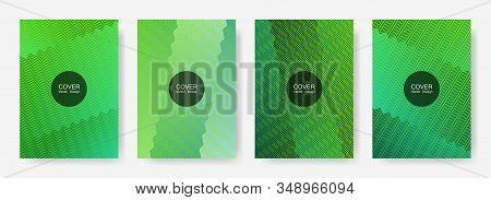 Zig Zag Lines Halftone Banner Templates Set, Vector Backgrounds For   Cover Layouts. Modern Zig Zag