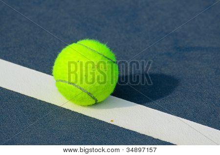 Tennis Balls Shot On A Outdoor Tennis Court