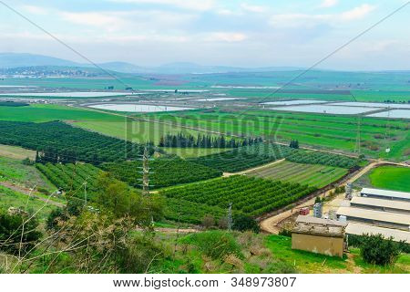 View Of Landscape And Countryside In The Eastern Part Of The Jezreel Valley, Northern Israel