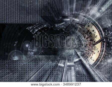 3D rendering of abstract technology digital hi tech background