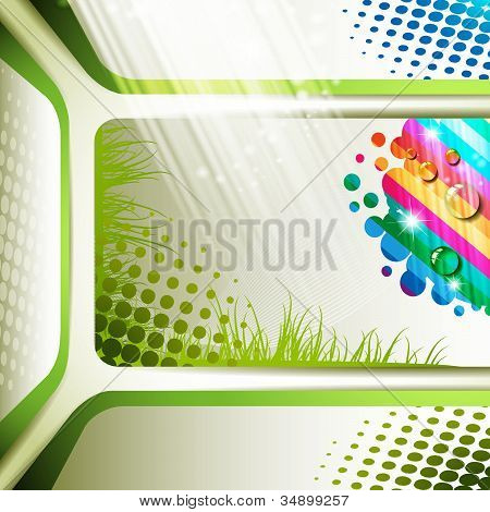 Colorful background and grass