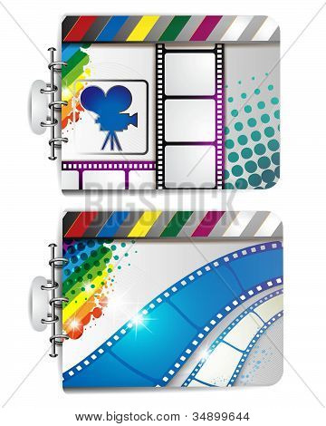 Banner with film frames