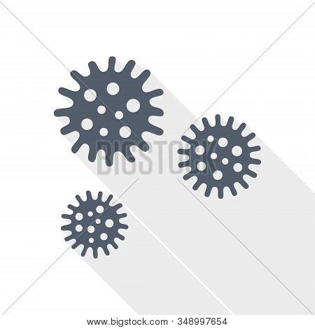 Virus Vector Icon, Bacteria, Pathogen, Infection Concept Flat Design Illustration