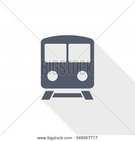 Railway Vector Icon, Train, Subway, Transportation Concept Flat Design Illustration