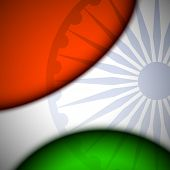 Creative abstract Indian Flag background. EPS 10. poster