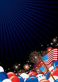 4 th July Background. Festive Firework Display and American Symbols poster