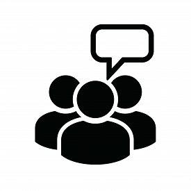 People Communicate Black Icon Design. Socila Media Communication Icon. Business Teamwork Concept Ico