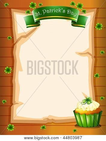 Illustration of a stationery for St. Patrick's day