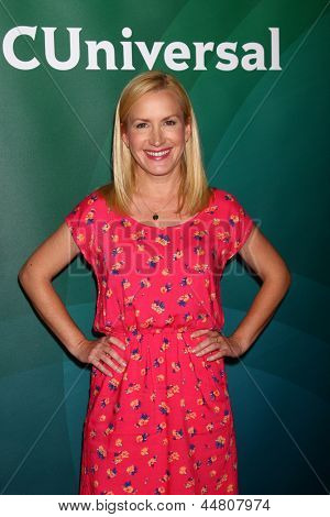 LOS ANGELES - APR 22:  Angela Kinsey at the NBCUniversal Summer Pres Day 2013 at the Huntington Langham Hotel on April 22, 2013 in Pasadena, CA
