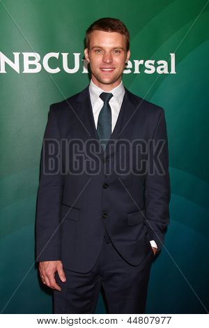 LOS ANGELES - APR 22:  Jesse Spencer at the NBCUniversal Summer Pres Day 2013 at the Huntington Langham Hotel on April 22, 2013 in Pasadena, CA