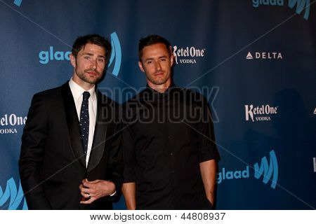 LOS ANGELES - APR 20:  Matt Dallas arrives at the 2013 GLAAD Media Awards at the JW Marriott on April 20, 2013 in Los Angeles, CA