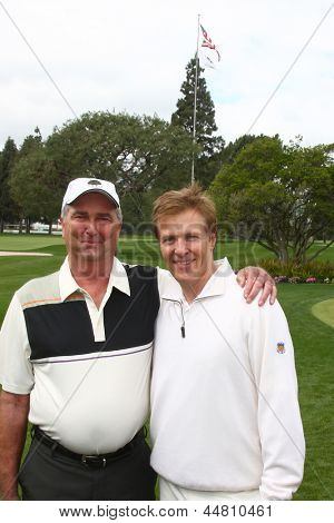 LOS ANGELES - APR 15:  Dennis Wagner, Jack Wagner at the JJack Wagner Celebrity Golf Tournament  at the Lakeside Golf Club on April 15, 2013 in Toluca Lake, CA