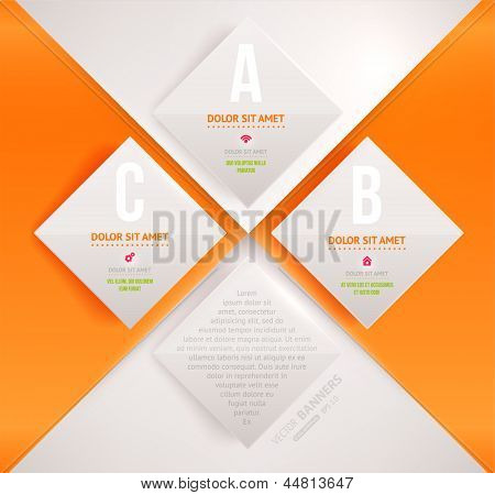 Modern infographic template for business design. Can be used for infographic posters, banners, cards, paper designs, website layouts and web designs, diagrams and presentations. eps10 vector. poster