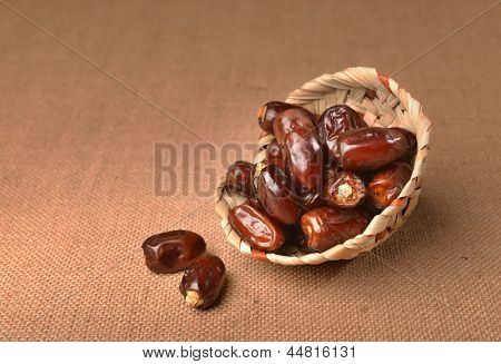 Ripped dates in a bowl poster