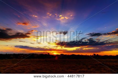 Aussie outback sunset