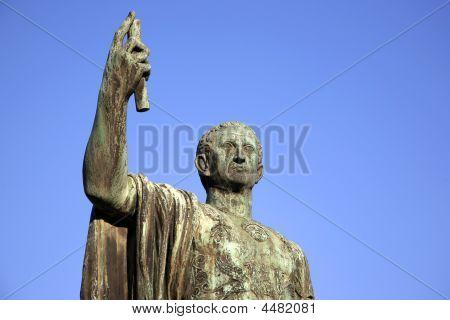 Sculpture of emperor Caesari Nervae Avg Rome Italy poster
