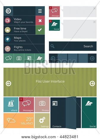 Flat user interface elements