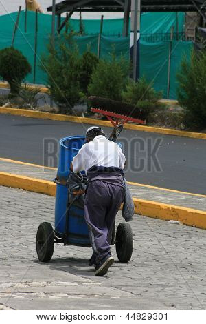 Editorial Use Only: Street Cleaner