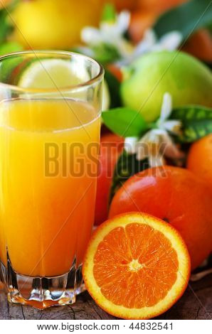 Glass Of Natural Orange Juice