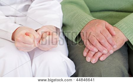 Anxious And Relaxed Hands