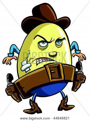 Cowboy Egg cartoon