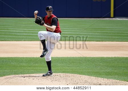 Scranton Wilkes Barre Railriders' Cody Eppley pitches