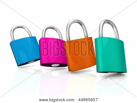 Colorful Padlocks