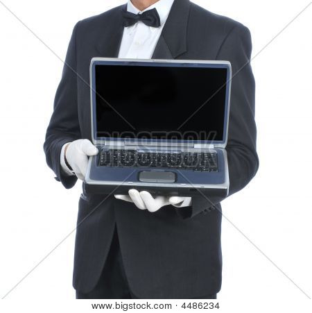 Butler With Laptop
